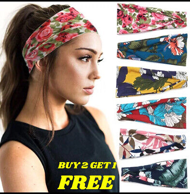 £2.99 • Buy NEW Women's Wide Elastic Stretchy Headband Hair Band For Running Fitness Sports
