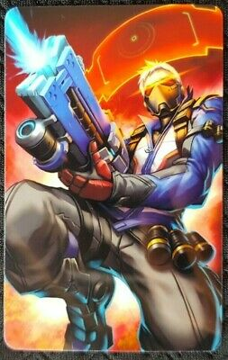 AU4 • Buy SOLDIER 76 Overwatch Sticker Card ID Bank Game Party Loot Kids Decal PC Skate