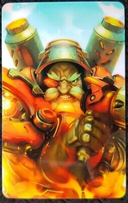 AU4 • Buy TORBJORN Overwatch Sticker Card ID Bank Game Party Loot Kids Decal PC Skate