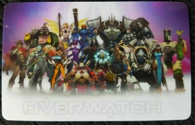 AU4 • Buy Overwatch Group Sticker Card ID Bank Game Party Loot Kids Decal PC Skate DVA