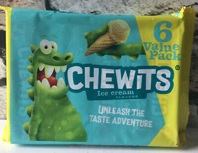 RETRO SWEETS CHEWITS ICE CREAM FLAVOUR - CHEWY SWEETS - 6 X 30 G - NEW • 3.88£