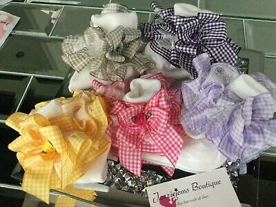 💝School 🎀 Bow Gingham Check School Ankle White Socks Jazziejems Boutique ❤️ • 5.59£
