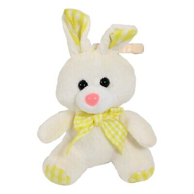 Clip On Easter Bunny Rabbit, Baby Easter Gift 10cm Yellow • 3.99£