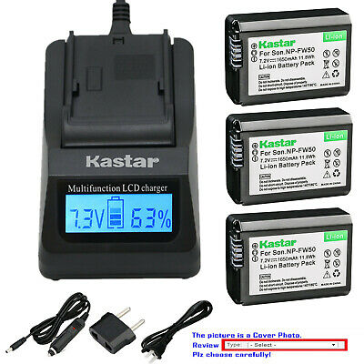 $ CDN40.27 • Buy Kastar Battery LCD Fast Charger For Sony NP-FW50 BC-VW1 & ILCE-6500 Alpha A6500