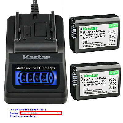 $ CDN41.53 • Buy Kastar Battery LCD Quick Charger For Sony NP-FW50 BC-VW1 & ILCE-6500 Alpha A6500