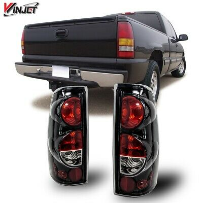 $54.71 • Buy 99-06 For Silverado Sierra Gloss Black Clear Altezza Tail Lights Set Replacement