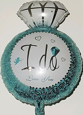 AU12.50 • Buy  5 X I DO Foil Balloon LOVE YOU Engagement Wedding DIAMOND RING HEART Party