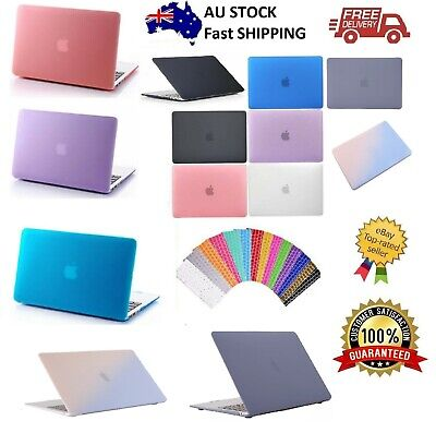 AU21.89 • Buy Macbook Rubberized Hard Case Shell+Keyboard Cover For Pro 13/15  Air 11/12  Inch