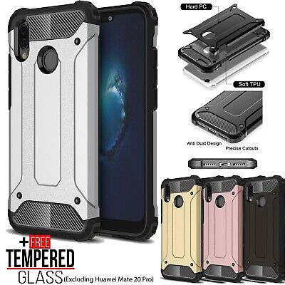 £4.19 • Buy For Huawei P20 Pro Lite Mate 20 8X Hybrid Armor TPU Shockproof Bumper Case Cover