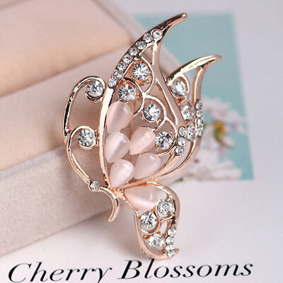 £2.43 • Buy Women Butterfly Rhinestone Brooches For Wedding Jewelry Dress Accessories LH