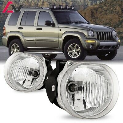 $48.79 • Buy For Jeep Liberty 02-04 Clear Lens Pair Bumper Fog Light Lamp OE Replacement DOT