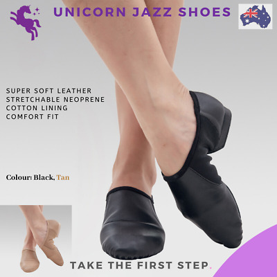 AU29.99 • Buy Unicorn Leather Jazz Dance Shoes Child And Adult Tan And Black