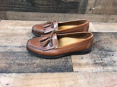 b545c0950c7 Cole Haan Mens Size 8.5M Brown Leather Tassel Kilt Loafers Shoes