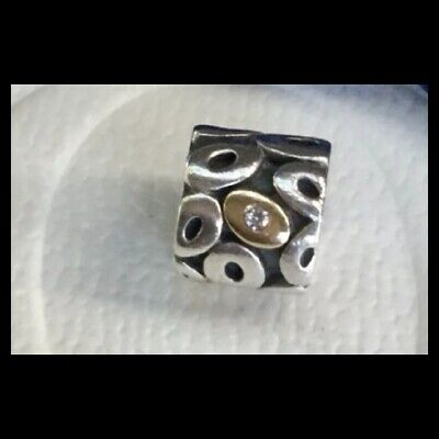 AU89 • Buy Authentic Pandora Sterling Silver And 14ct Gold Charm With 3 Sparkling Diamonds