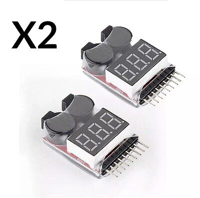 £4.75 • Buy 2 NEW RC LIPO Battery Low Voltage Tester 1-8S Buzzer Alarm Checker LED Indicator