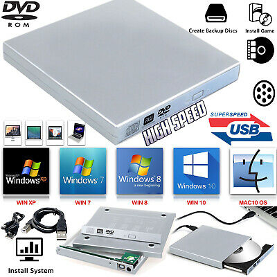 Laptop USB To SATA CD DVD Combo RW Rom External Drive Case Cover Caddy Enclosure • 8.19£