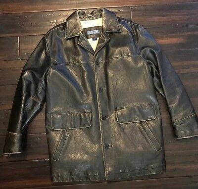 Mens Distressed Leather Indiana Jones Jacket Brown Bomber STRUCTURE Heavy Lined • 65.21£