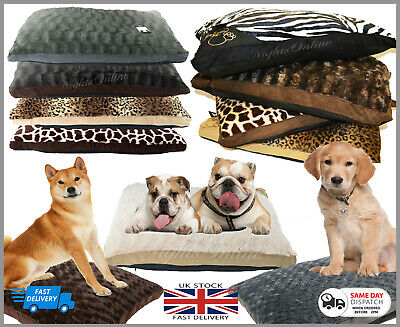 Luxurious Fur Pet Bed Soft Pillow Cushion For Cats/Dogs Washable Zipped Cover  • 9.95£