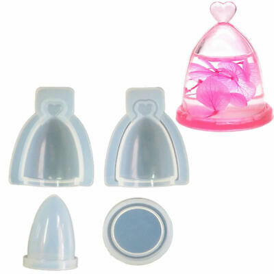 $4.90 • Buy 4 Pcs/Set Silicone Mold Glass Cover Hollow Bottle Epoxy Resin DIY Jewelry Making