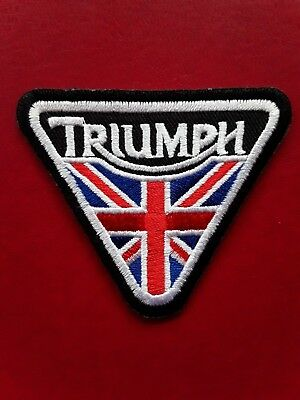 Triumph British Bike Motorcycle Iron/sew On Embroidered Quality Patch Uk Seller • 2.89£