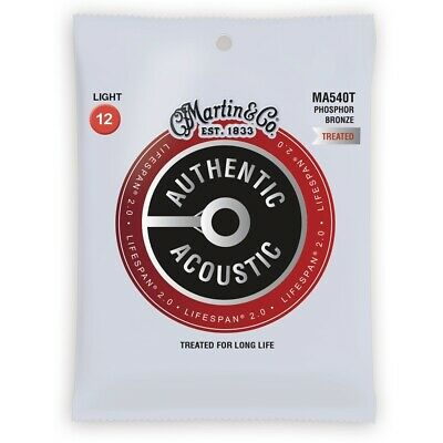 $ CDN23.04 • Buy Martin Authentic Acoustic Lifespan 2.0 Treated Guitar Strings - 92/8  12 - 54