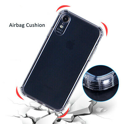 AU4.99 • Buy Shockproof Tough Gel Clear Case Cover For Apple IPhone 7 8 Plus XR XS XSMAX