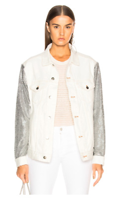 $ CDN363.89 • Buy NWT IRO Nanopo Frayed Sequined Denim Jacket Size 40