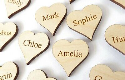 £2.79 • Buy Wooden Personalised Hearts Family Tree Wedding Guestbook Decoration Family Name