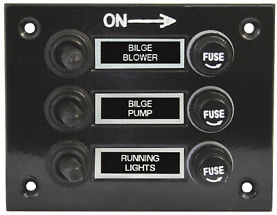 AU29.90 • Buy 3 Gang Fused Marine Switch Panel With Splash Proof Boots For Boats 12 / 24 Volt