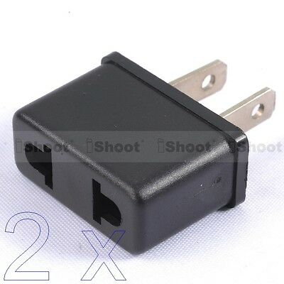 AU1.92 • Buy 2x AU Australia EU Europe To US America Power Plug Adapter Travel Converter -HOT