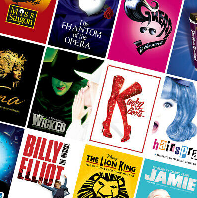 £2.99 • Buy BEST UK CLASSIC MUSICAL THEATRE POSTERS - A4 A3 A2 Prints - Matilda, Hairspray
