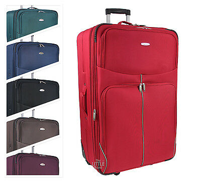 £19.95 • Buy Cabin Size Lightweight Hand Luggage Trolley Carry On Suitcase Travel Bag RT32