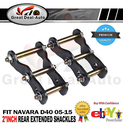 AU97 • Buy For Nissan Navara D40 Rear Extended 2  Inch Shackles Lift Kit  Greasable 05-15