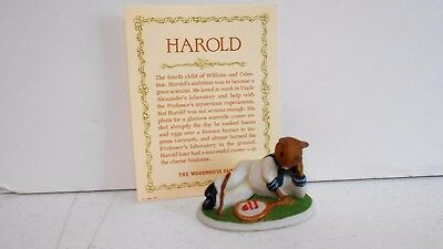 Woodmouse Family Harold Figurine Franklin Mint 1985 Porcelain With Card    8898 • 11.95$