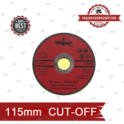 AU35 • Buy CUTTING DISC..,115mm 4.5inch  ... X 25  SAFETY CERTIFIED! AUSSIE SELLER!
