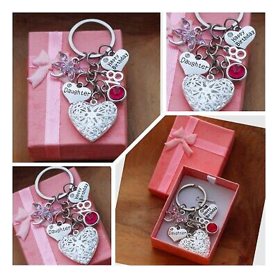 Personalised Birthday Gift Keyring Mum Daughter Sister 18th 21st  30th 40th 60th • 4.99£