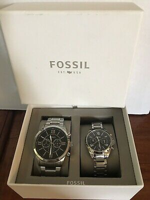 Fossil Stainless Steel Watch His And Hers • 115.18£