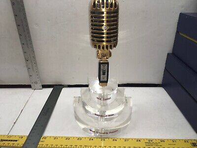 1/1 Award Nick Carter Backstreet Boys Gold Mic 55sh Shure Most Fanciable Popstar • 548.02£