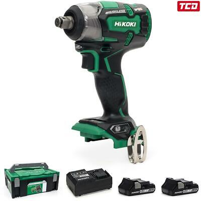 HiKOKI WR18DBDL2/JM 18V Cordless Impact Wrench Kit - 2 X 3.0Ah • 249£