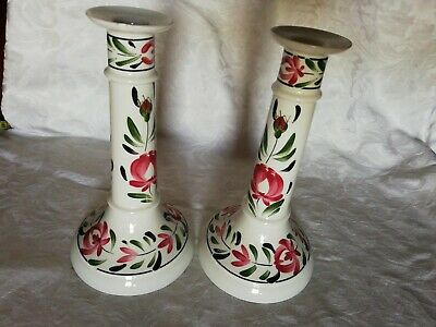 Pair Of Portmeirion Welsh Dresser Candlesticks 9 Inches High • 23£
