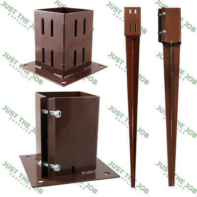 £28.92 • Buy Fence Post SPIKES & SHOES, Bolt Down Holders ~ 50/75/100mm Garden Support Stakes