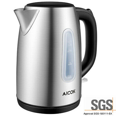 AU27.55 • Buy AICOK 1.7L Small Stainless Steel 1700W Electric Cordless Kettle Jug Water Boiler