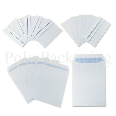£20.15 • Buy PAPER ENVELOPES A6/A5/A4/DL *Any Qty* Plain White SELF SEAL Small Medium Large
