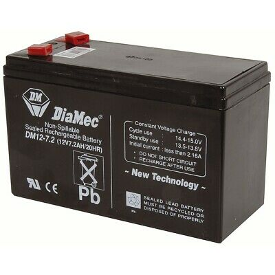 AU34.95 • Buy 12V 7.2Ah Rechargeable SLA Battery NBN Diamec