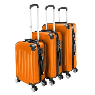 View Details Orange 3 Pieces Travel Luggage Set Bag ABS Trolley Carry On Suitcase TSA Lock • 59.99$