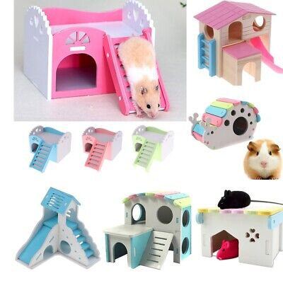 £11.09 • Buy Blesiya Hamster Toy NEST /HOUSE Wooden Hut Small Animal Gerbil Mouse Playground