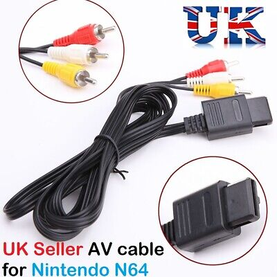 AU5.34 • Buy AV Video Audio Cable Lead Wires For Nintendo N64 GameCube System NGC GC SNES UK