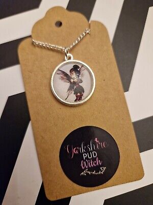 £3.85 • Buy Punk Tinkerbell Retro Disney Goth Grunge Emo Silver Plated Necklace