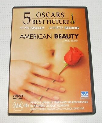 AU4.50 • Buy DVD - American Beauty - Kevin Spacey - Annette Bening - 117 Mins - REDUCED!!
