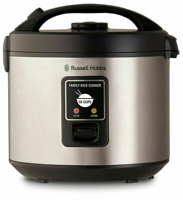 AU67.95 • Buy NEW Russell Hobbs 10 Cup Family Rice Cooker Stainless Steel RHRC1
